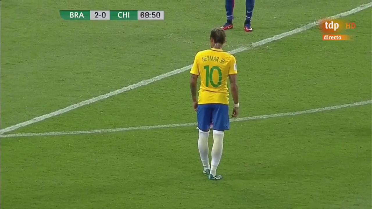 Бразилия - Чили 3:0 видео