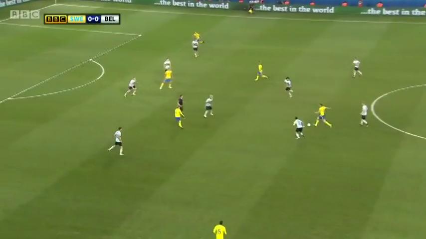 Швеция - Бельгия 0:1 видео