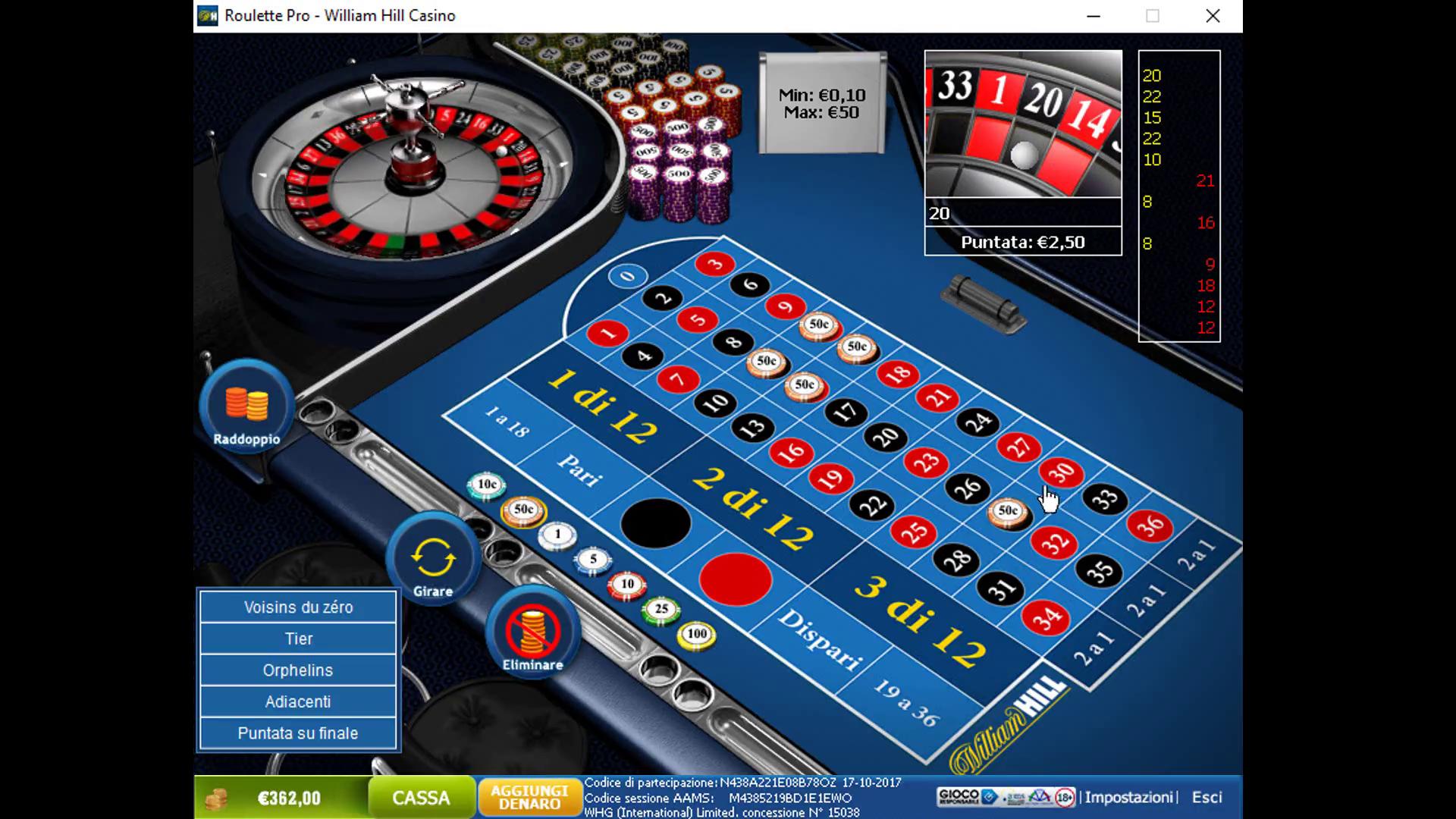 Metodo vincente roulette