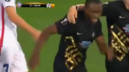 Osmanlıspor 2-0 Steaua Bucureşti - Golo de A. Umar (74min)