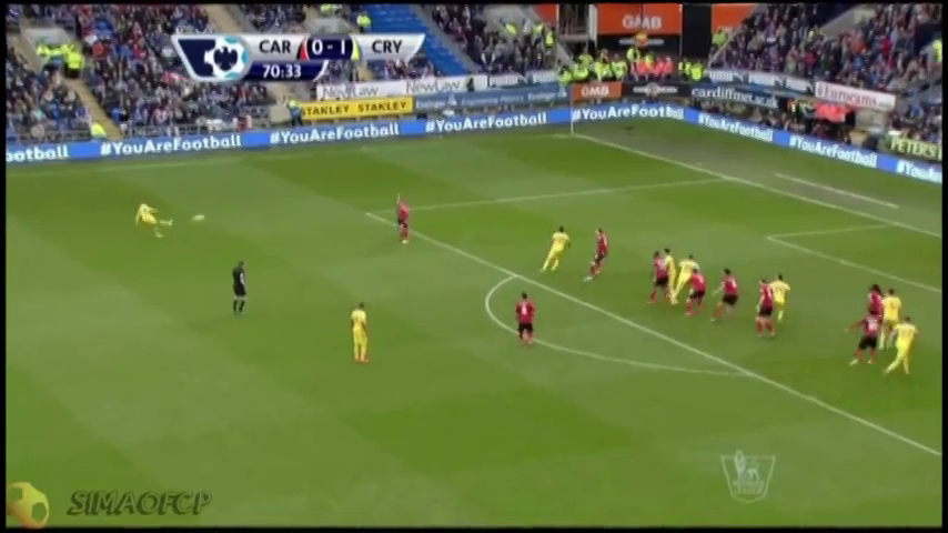 Resumo: Cardiff City 0-3 Crystal Palace (5 abril 2014)