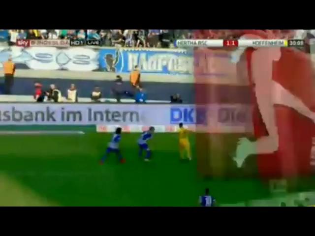 Hertha BSC 1-1 Hoffenheim - Goal by E. Polanski (30')