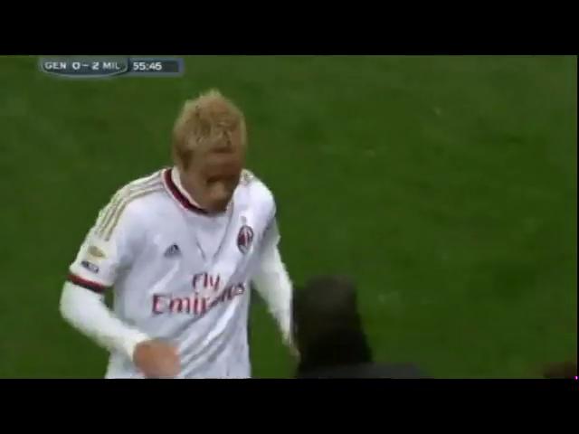 Genoa 1-2 Milan - Golo de K. Honda (56min)