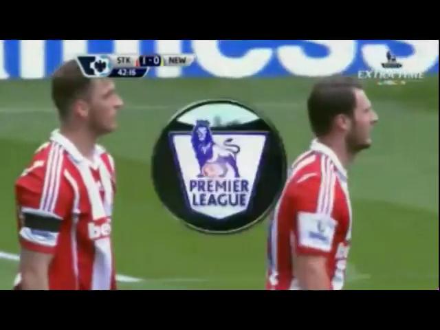 Stoke City 1-0 Newcastle United - Golo de E. Pieters (42min)