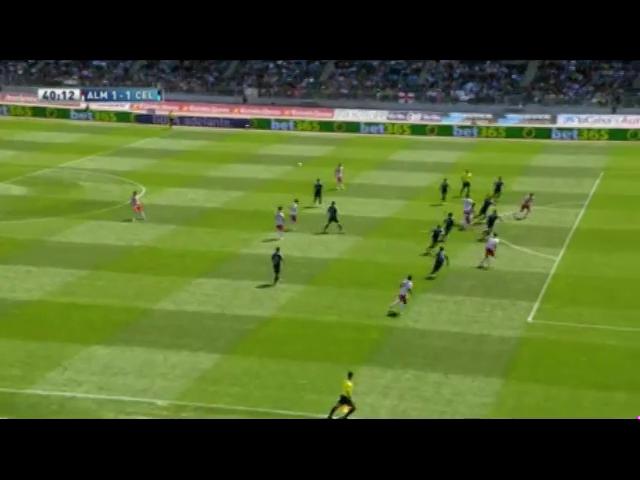 Almería 2-4 Celta de Vigo - Golo de Rodri (40min)