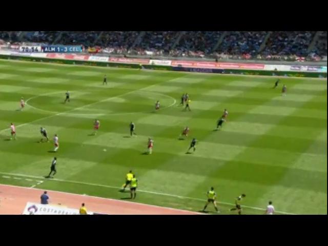 Almería 2-4 Celta de Vigo - Golo de Nolito (71min)