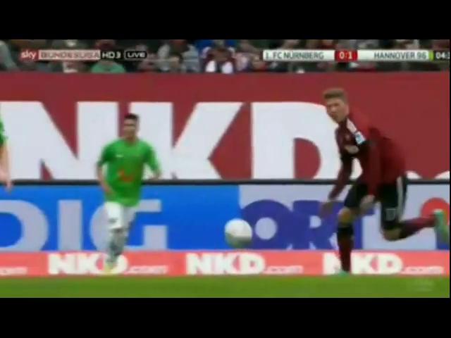 Nürnberg 0-2 Hannover 96 - Golo de S. Huszti (5min)