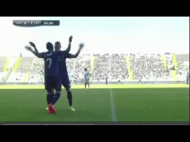 Udinese 5-3 Livorno - Golo de E. Agyemang-Badu (21min)