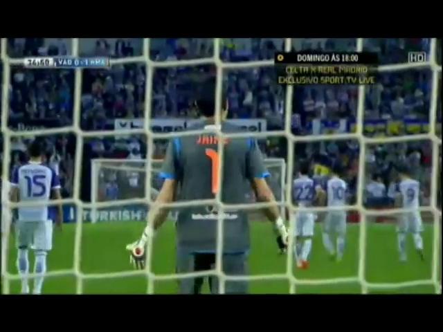 Real Valladolid 1-1 Real Madrid - Golo de Sergio Ramos (35min)