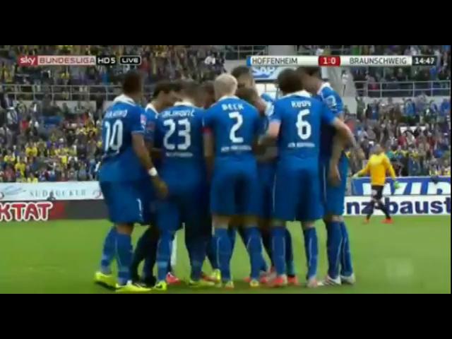 Hoffenheim 3-1 Eintracht Braunschweig - Golo de S. Rudy (15min)