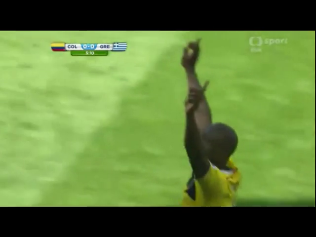Colombia 3-0 Greece - Golo de P. Armero (5min)