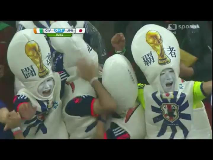 Côte d'Ivoire 2-1 Japan - Golo de K. Honda (16min)