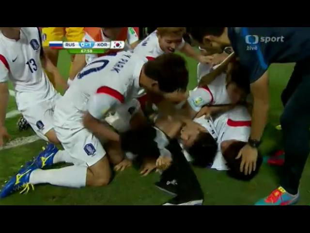 Russia 1-1 Korea Republic - Golo de Keun-Ho Lee (68min)