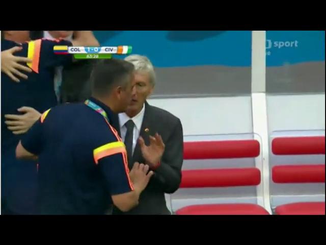 Colombia 2-1 Côte d'Ivoire - Golo de J. Rodríguez (64min)