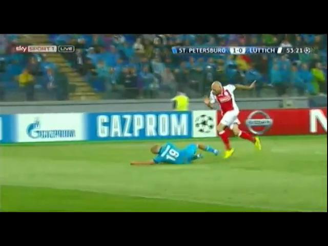Zenit 3-0 Standard Liège - Golo de Hulk (54min)