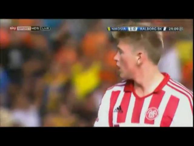 APOEL 4-0 AaB - Golo de Vinicius (29min)