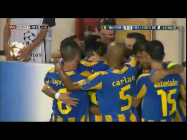 Resumo: APOEL 4-0 AaB (26 August 2014)