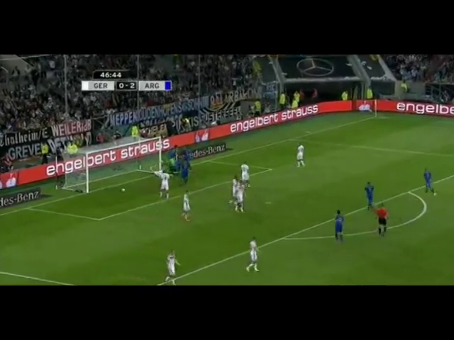 Germany 2-4 Argentina - Golo de F. Fernández (47min)