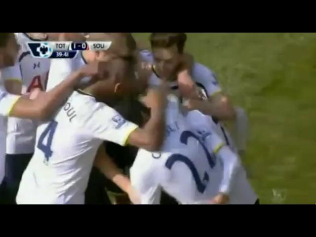 Tottenham Hotspur 1-0 Southampton - Golo de C. Eriksen (40min)