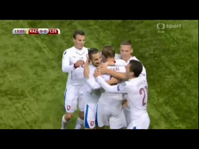 Kazakhstan 2-4 Czech Republic - Golo de B. Dočkal (13min)