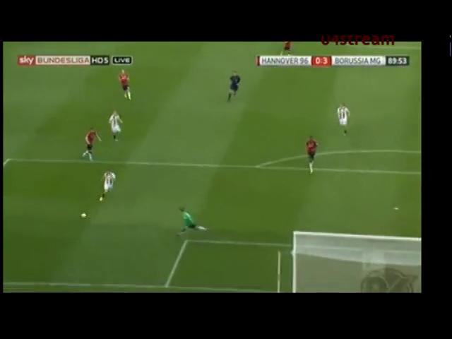 Hannover 96 0-3 Borussia M'gladbach - Golo de M. Kruse (90min)