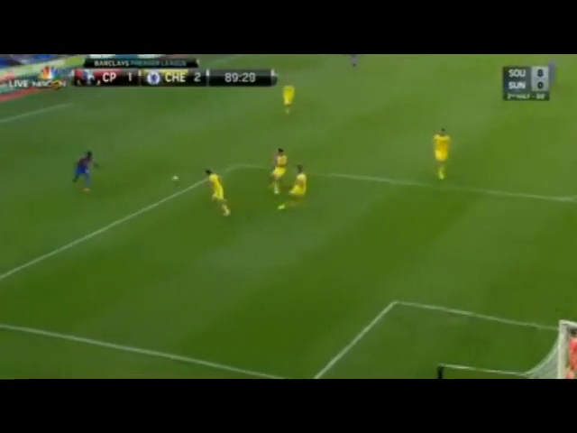Crystal Palace 1-2 Chelsea - Golo de F. Campbell (90min)
