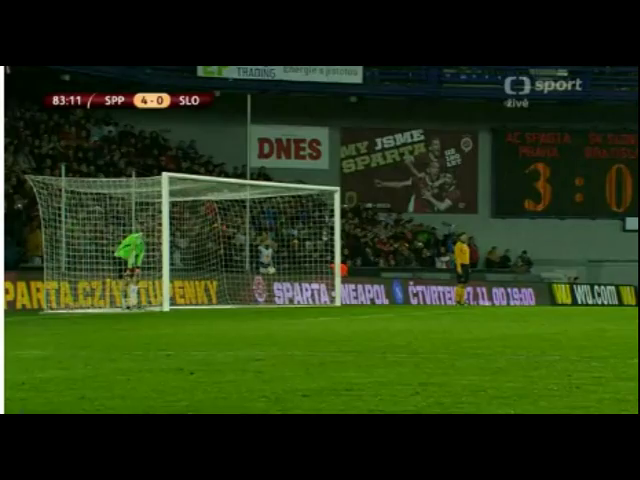 Sparta Praha 4-0 Slovan Bratislava - Golo de C. Nhamoinesu (74min)