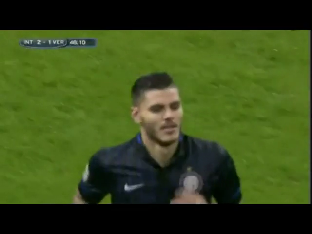 Inter 2-2 Verona - Goal by M. Icardi (48')