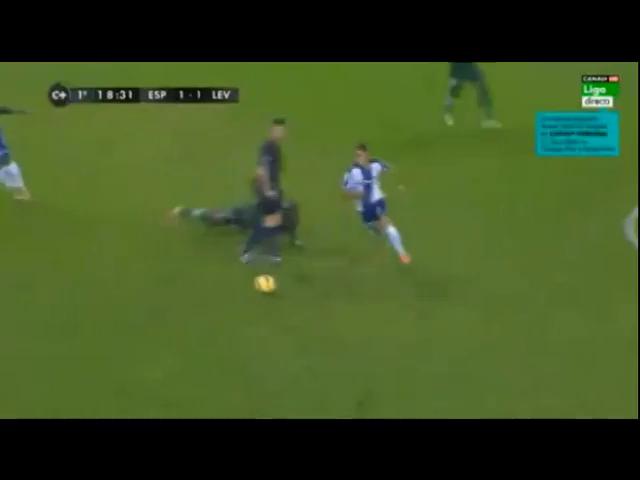 Espanyol 2-1 Levante - Golo de F. Caicedo (19min)
