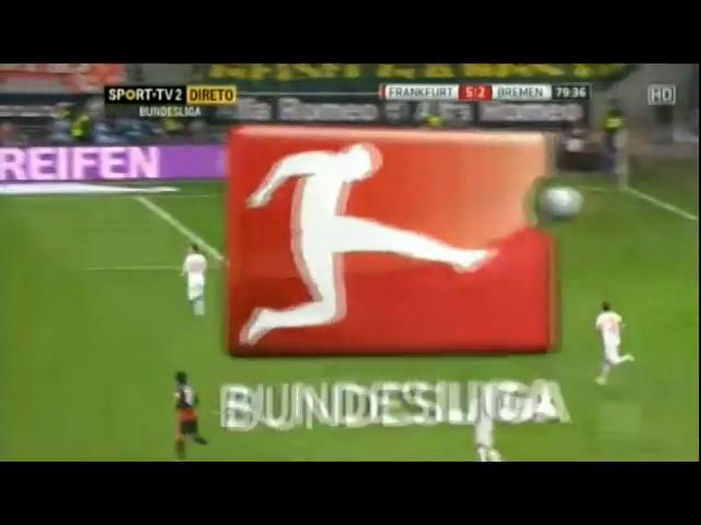 Frankfurt 5-2 Bremen - Goal by M. Stendera (80')