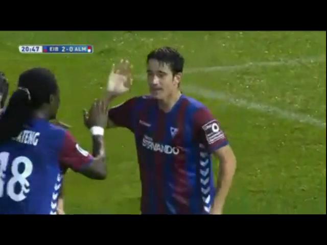 Eibar 5-2 Almería - Golo de Saúl Berjón (21min)