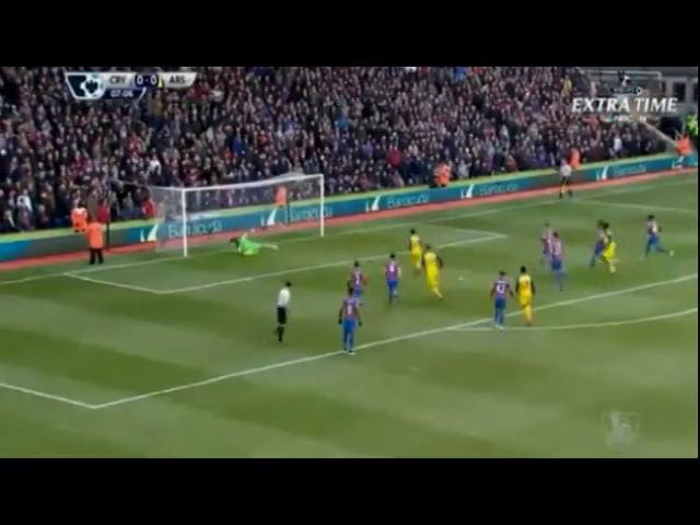 Crystal Palace 1-2 Arsenal - Golo de Cazorla (8min)