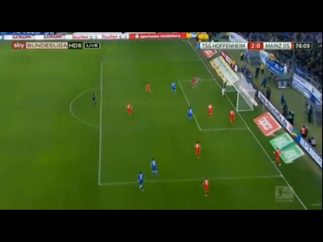 Hoffenheim 2-0 Mainz 05 - Golo de E. Polanski (76min)