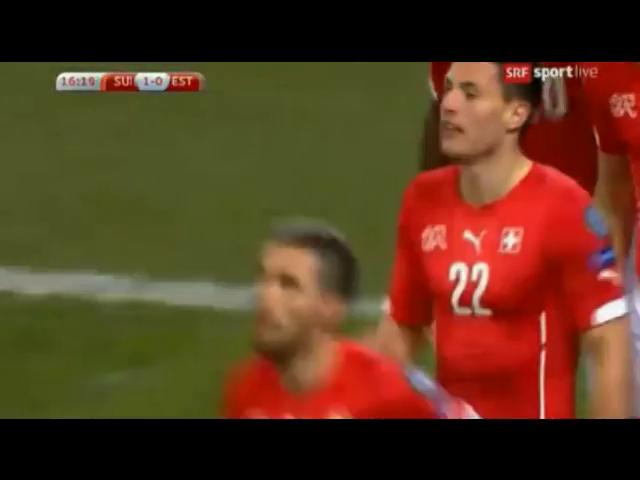 Switzerland 3-0 Estonia - Golo de F. Schär (17min)