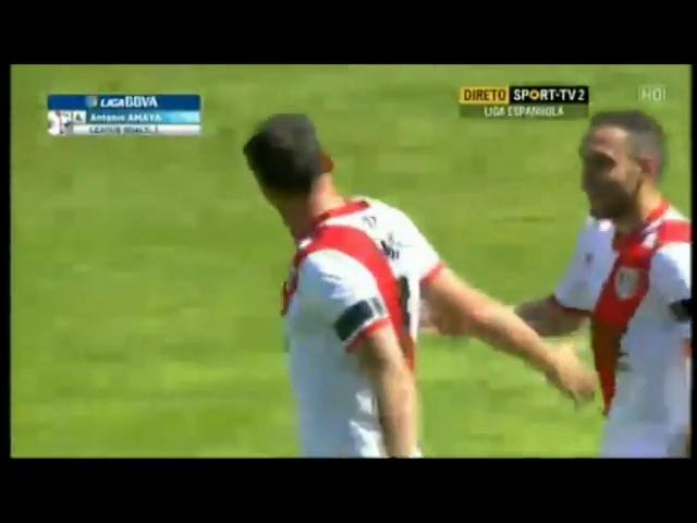Vallecano 2-0 Almería - Gól de Antonio Amaya (23min)