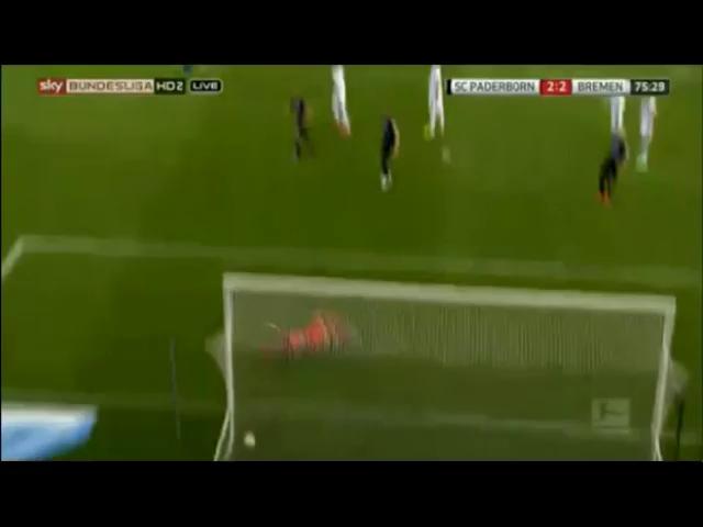 Paderborn 2-2 Werder Bremen - Golo de D. Selke (45min)