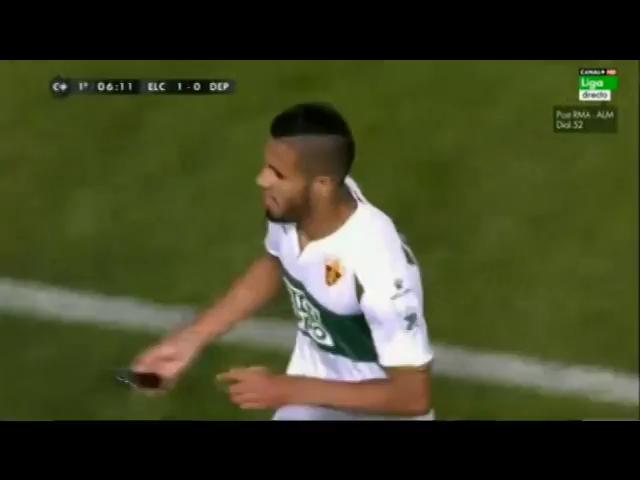 Elche 4-0 Deportivo La Coruña - Golo de Lombán (20min)