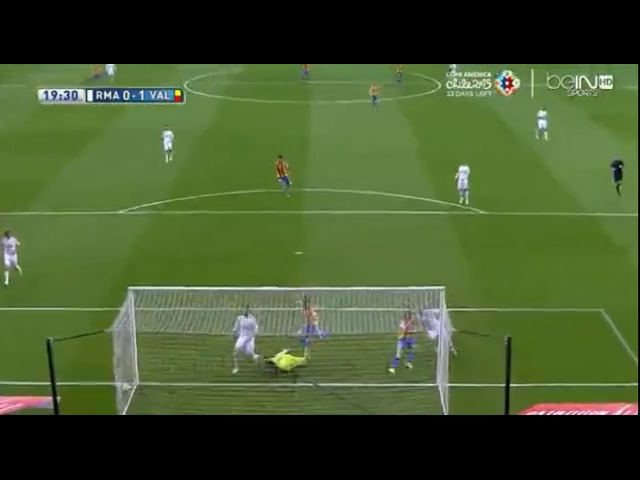 Real Madrid 2-2 Valencia - Golo de Paco Alcácer (19min)