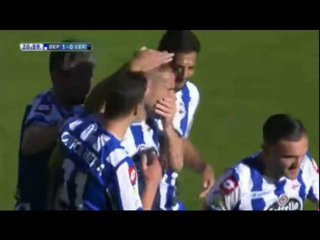Deportivo La Coruña 2-0 Levante - Golo de Lopo (21min)