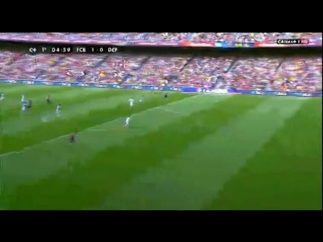 Barcelona 2-2 Deportivo La Coruña - Golo de L. Messi (5min)