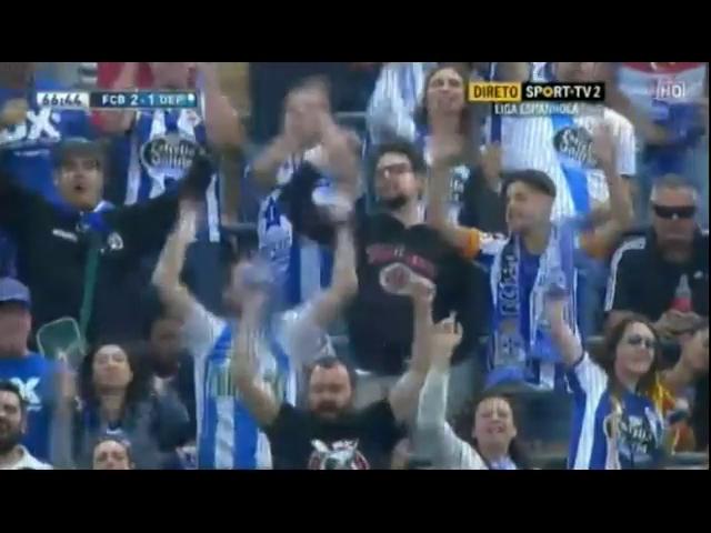 Barcelona 2-2 Deportivo La Coruña - Golo de L. Messi (59min)