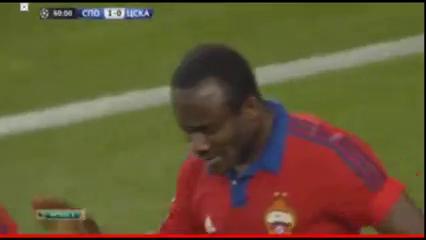 Sporting CP 2-1 CSKA Moskva - Golo de S. Doumbia (40min)