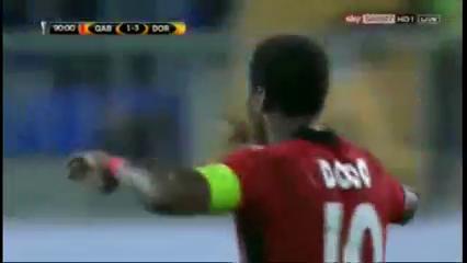 Qabala 1-3 Borussia Dortmund - Golo de Dodo (90+3min)