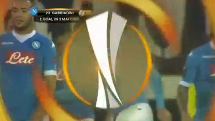Midtjylland 1-4 Napoli - Golo de M. Gabbiadini (31min)