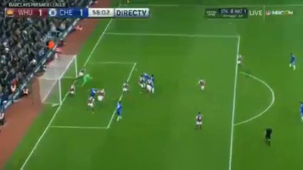 West Ham United 2-1 Chelsea - Golo de G. Cahill (56min)