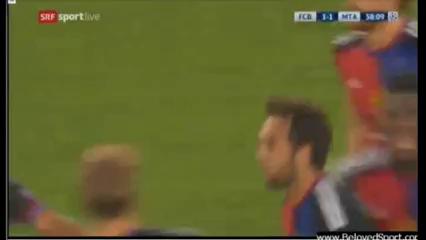 Basel 2-2 Maccabi Tel Aviv - Golo de M. Delgado (39min)