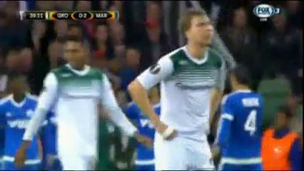 Groningen 0-3 Olympique Marseille - Golo de L. Ocampos (39min)
