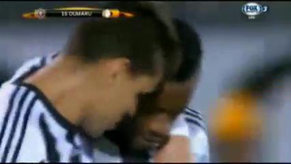 Partizan 3-2 AZ - Golo de A. Oumarou (11min)