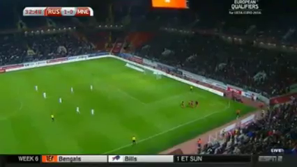 Russia 2-0 Montenegro - Golo de O. Kuzmin (33min)