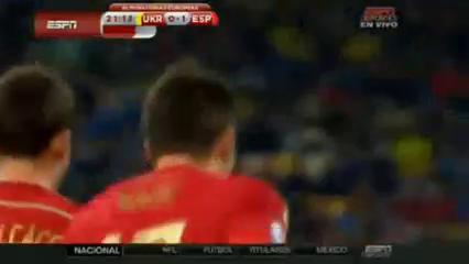 Ukraine 0-1 Spain - Golo de Mario Gaspar (21min)